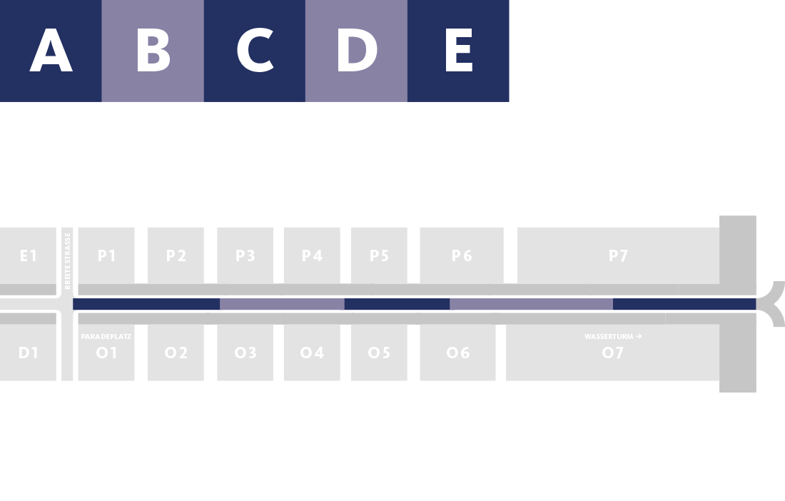 Bauabschnitt A, B, C, D, E